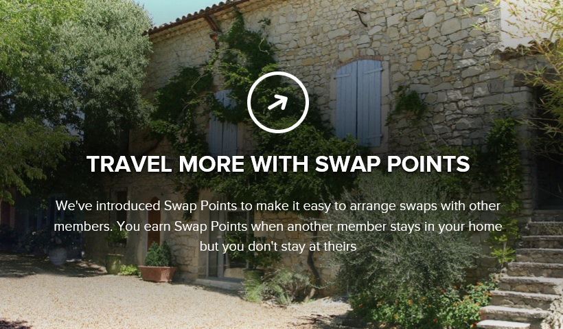 You can swap for Points on Love Home Swap so the home-owners don't have to stay at your house. Image: lovehomeswap.com