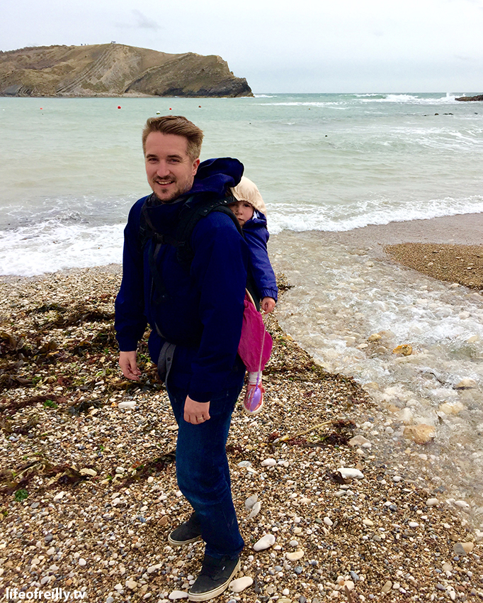 David and Samantha exploring Lulworth Cove