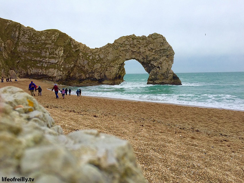 The amazing view of Durdle Door from the beach