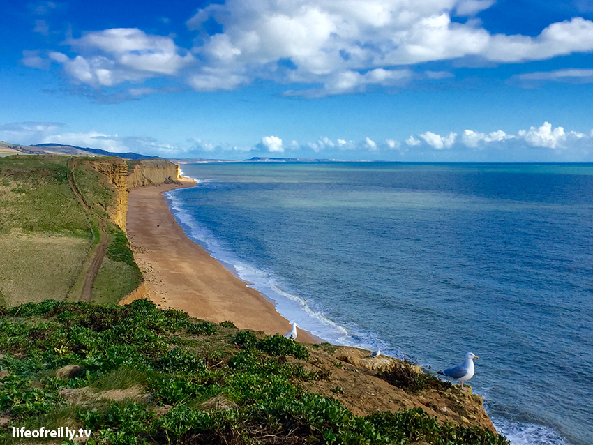 The view from the top of the 'Broadchurch' cliff