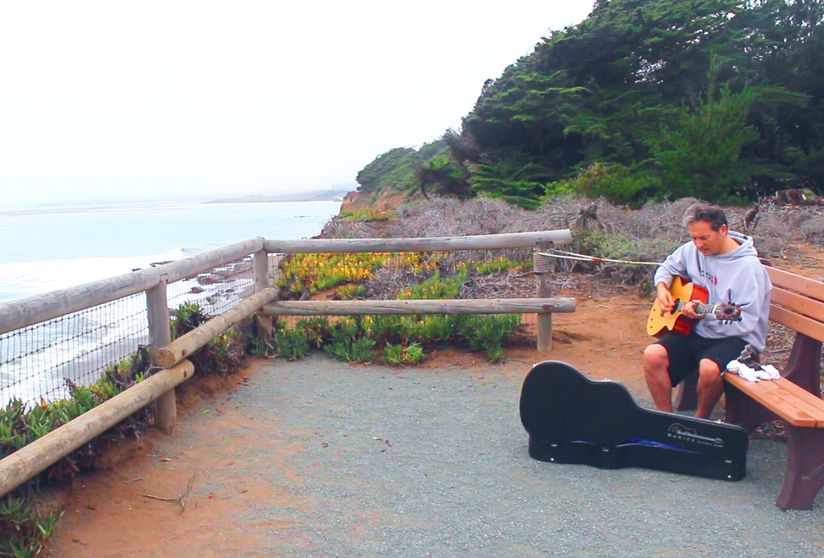 Only on a road trip like this would you find a songwriter using Big Sur as inspiration! Watch Marcos Lopez-Iglesias' scenic soundtrack for us.