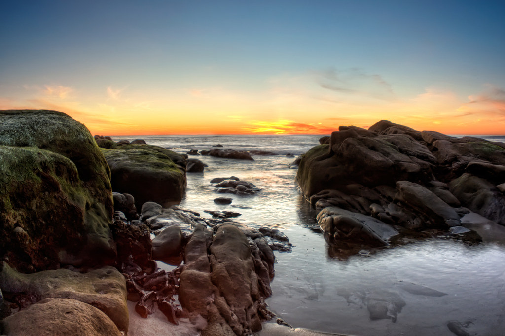 Finish your Pacific Coast Highway Road Trip next to the rock pools and wildlife at La Jolla Cove. Photo by Chad McDonald/Flickr