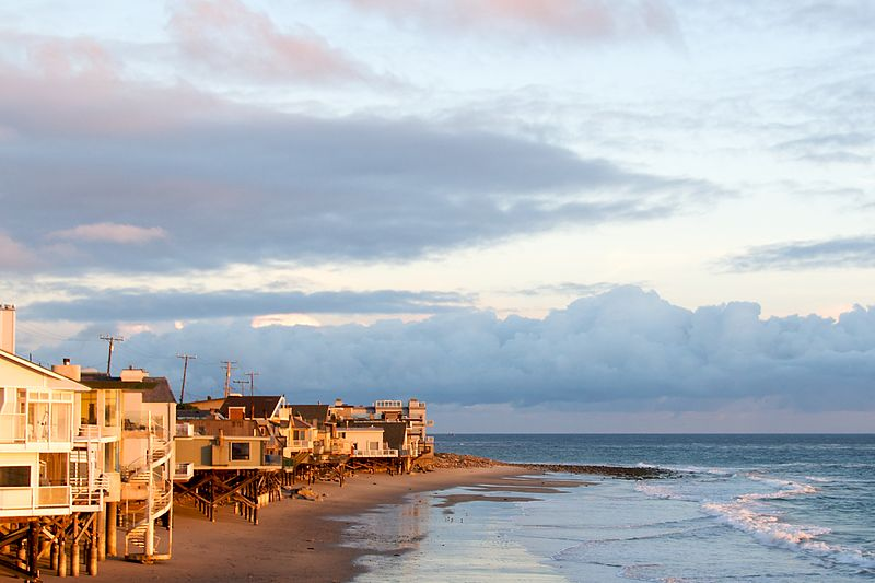 The beach houses are worth millions and are where many of the biggest stars live. Photo by BriYYZ on Flickr.